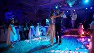 Световое оформление зала на свадьбу