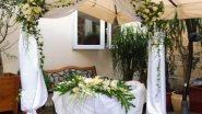 Оформление места выездной регистрации свадьбы