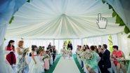 Декор шатра для выездной регистрации свадьбы