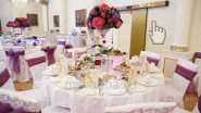Украшение столов живыми цветами