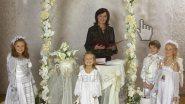 Дети-ангелочки на выездной регистрации брака